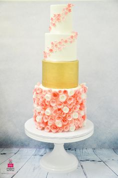 Wafer Paper Rose Garden (In memory of Yasmine) - Cake by Esther Williams