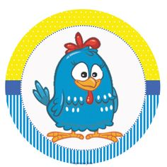 Kit digital gratuito – Galinha Pintadinha azul e amarelo – Inspire sua Festa ®