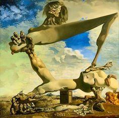 Salvador Dali  cuadro: Construcción blanda con judías hervidas (Premonición de la Guerra Civil)