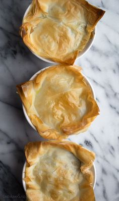 Phyllo Chicken Pot Pie - save a ton of calories and fat by using phyllo and this simple recipe! | @Caroline | Taste Love & Nourish | #chickenpotpie