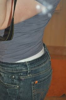 How to fix that giant gaping spot in the back pants without having to wear a belt.