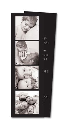 Faire part naissance Photomaton (MTR-124)