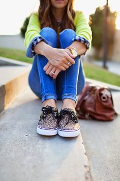 Leopard Sperry's = Neutral