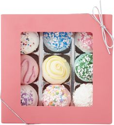 These bath truffles look good enough to eat! Presented in a windowed box, these truffles are a bit different than Fizz & Bubble's other bath truffle collections in that these truffles not only fizz once submerged in water, they actually foam!