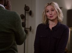Eleanor Shellstrop's Navy and Purple Plaid Shirt on The Good Place