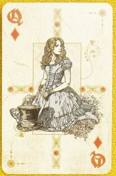 Lovely set of Tim Burton Alice in Wonderland playing cards :D