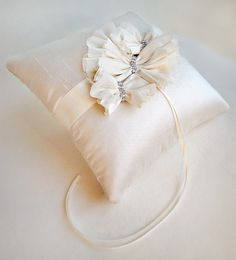 The Aella Ivory Ring Bearer Pillow by EmiciBridal on Etsy, $120.00