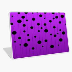 """""""Black ovals, dots on strings purple pattern"""" Laptop Skin by cool-shirts Samsung Galaxy Cases, Iphone Cases, Rick And Morty Season, Framed Prints, Canvas Prints, Purple Pattern, Laptop Skin, Sell Your Art, Cool Shirts"""