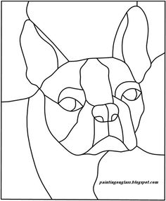 Stained Glass Patterns | Stained Glass BostonTerrier Pattern