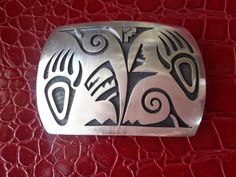 NATIVE AMERICAN STERLING Belt Buckle Bear Claw by vintagesouthwest