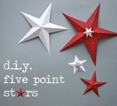 Tutorial for making 5 point paper stars