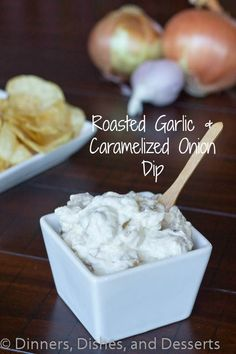 Roasted Garlic & Caramelized Onion Dip with #RealKettleChips