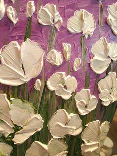 Original abstract contemporary impasto fine art por artmod