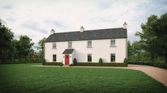No. 34 - McAleenan NI Cottage Design, Farmhouse Design, House Designs Ireland, Old Country Houses, Rural House, Farmhouse Renovation, Irish Cottage, Architect House, Home Design Plans