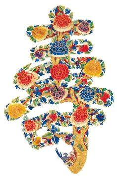 Korean style 궁중 자수 침장에 수 Korean Design, Asian Design, Design Art, Creative Design, Design Elements, Graphic Design, Korean Painting, Chinese Patterns, Chinese Typography