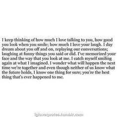 I'd love someone to think/feel this about me