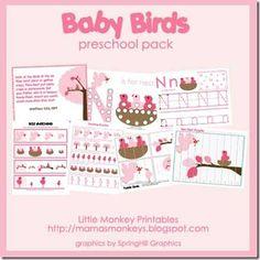 Free!! PK & K Baby Birds unit and printables!!