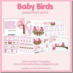 baby birds printable package, this website has some really good printables for preschoolers