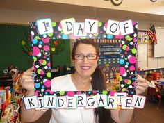 Our First Day of Kindergarten photo frame.  PERFECT!