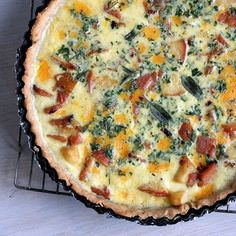 Apple Cheddar Quiche with Ham and Sage | 28 Ways To Eat Apples This Fall