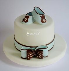 "Baby ""shoes""cake - by Karla (Sweet K) @ CakesDecor.com - cake decorating website"