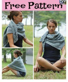Beautiful Knit Triangle Shawl - Free Pattern #freepattern #knitpatten#shawl