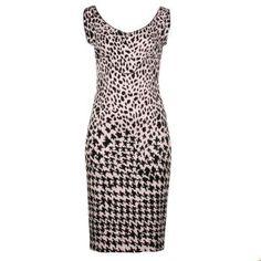 McQ Alexander McQueen Women's Pink Animal Print Dress £258!