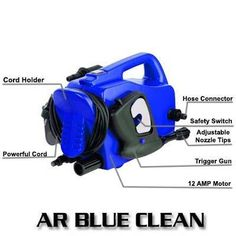 If you think of buying a power washer we recommend you to buy AR Blue Clean electric pressure washer. Best Pressure Washer, Cord Holder, Safety Switch, Tool Storage, Electric, Cleaning, Club, Tools, Appliance