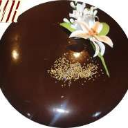 Cobertura de chocolate brillante para tartas