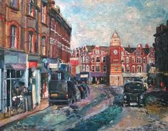 Buy Crouch End London, Oil painting by Samuel Burton on Artfinder. Crouch End, North London, Impressionist, Times Square, Scene, Oil, Artist, Travel, Paintings