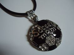 Soccer MOM Super Bling Necklace by PhotoJewelryByMEB on Etsy, $16.95