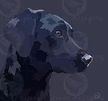 black labrador | snewdesigns | Digital Arte Pop, Black Labrador, Digital, Dogs, Animals, Black Labs, Animales, Animaux, Pet Dogs