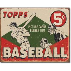 Art vintage baseball poster vintage-sports-baby-room