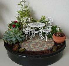I finally made my own fairy garden! Only the miniature watering can still lacks… I finally made my own fairy garden! Only the miniature watering can still lacks…Cool 48 Beautiful Fairy Garden Ideas That Easy To Make It.My Small Obsession promotes Garden Crafts, Garden Projects, Garden Art, Garden Ideas, Dish Garden, Terrarium Cactus, Terrariums, Mini Fairy Garden, Fairy Gardening
