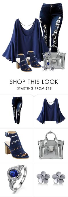 """That silver purse"" by dachael ❤ liked on Polyvore featuring WithChic, 3.1 Phillip Lim and Allurez"