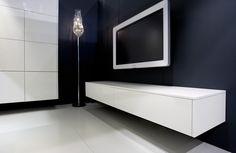 modern zwevend wit televisie meubel