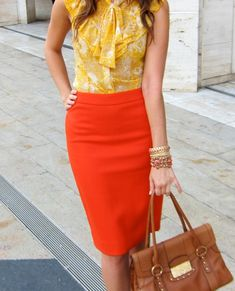Orange and yellow is like a breath of fresh air in summer.