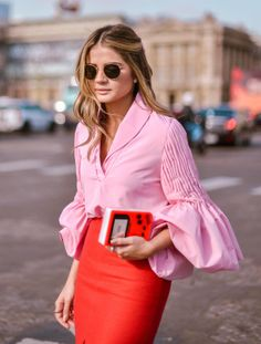 Fabulous colour combination of pink and coral red which would translate beautifully into an interior scheme as accent colours