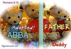 "toybear1-1 We cry, ""Abba, Father"" ♛♥♪♥   http://pilgrimtraveler.com/teddy-bears/ via @KarenGentry99"