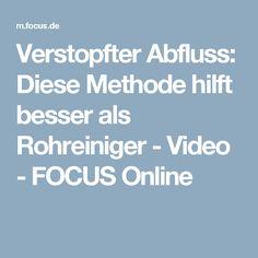 Verstopfter Abfluss: Diese Methode hilft besser als Rohreiniger - Video - FOCUS Online