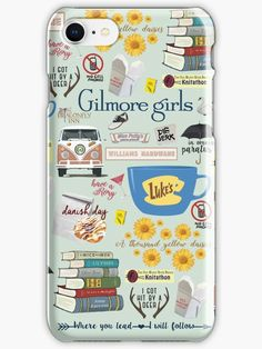 'Gilmore Girls Collage, mint green' iPhone Case/Skin by birchandbark