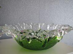"Pertti Santalahti, ""Kasvimaalla"" Punch Bowls, Finland, Serving Bowls, Scandinavian, Tableware, Glass, Design, Dinnerware, Drinkware"