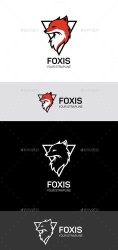 Fox logo - Animals Logo Templates #logodesign #logo
