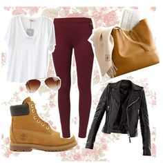 """timberlands"" by kyra-boo on Polyvore"