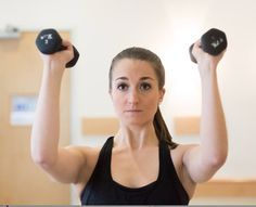 Bent Elbow Lifts help to create a teardrop shape in the tops of your arms by toning and strengthening your deltoids. You can the added benefit of working your core muscles, specifically those in your abs, glutes and upper back. Challenge yourself to use your heavy weights next time!