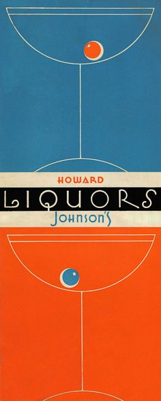 vintage HJ cocktail menu