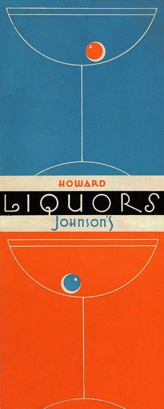 1950s Ho-Jo cocktail menu