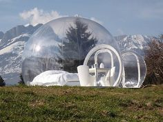 Bubble camping. I think I could enjoy this. My hubby says I need to live in a bubble anyway.  How cool is this!