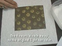 How to use bleach to stamp on dye inks. This technique shows you how to create a disposable bleach pad, and includes tips on using dye inks with white-core (printed) cardstock.    Additional information: bleach loses its bleaching properties when exposed to air. If your bleach is old, it may not be as effective. Your home-made bleach pad will la...