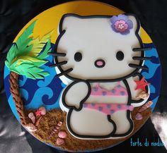 Hello Kitty on the Beach Cake